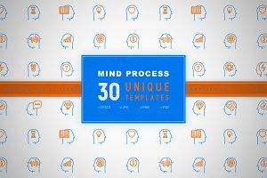 Mind Process Icons Set | Concept