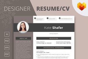 Editable Resume: Interior Designer