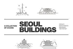 South Korea - Seoul icon set