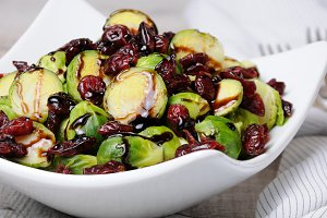 Salad from Brussels sprouts