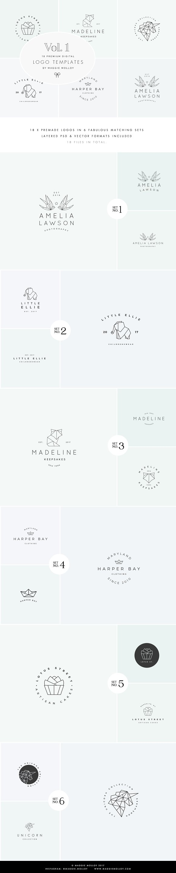 Feminine Digital Logo Bundle Vol.1
