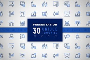 Presentation Icons Set | Concept