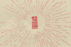 12 Handmade Sunbursts