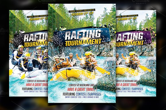 Rafting Flyer Template