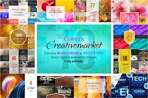 CreativeMarket Covers Mockup. 10 PSD