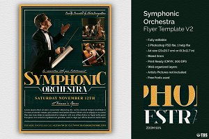 Symphonic Orchestra Flyer Template 2