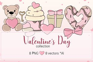 Valentine's Day Clipart Vector