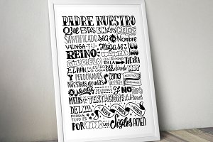 Padre Nuestro - Lettering Poster