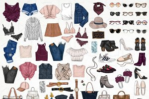 Fashion Elements Clip Art