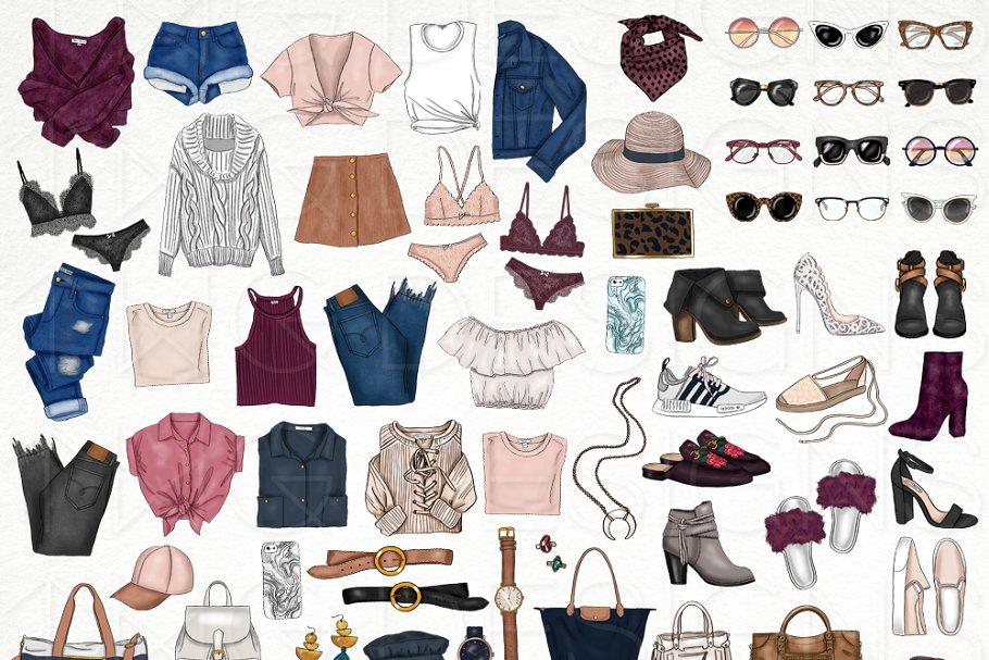 Fashion Elements Clip Art