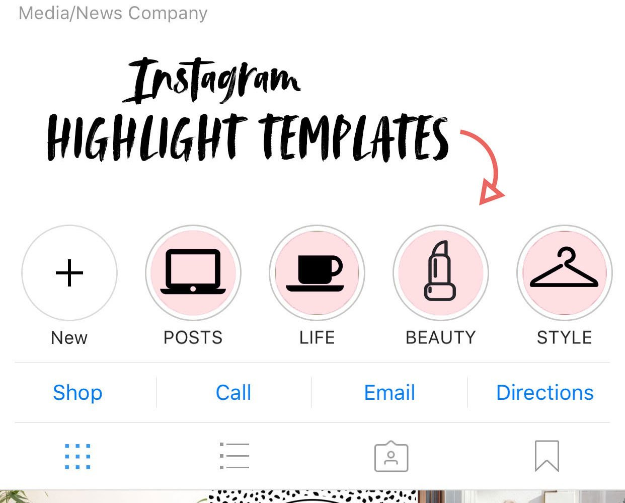 instagram story highlight templates templates creative market. Black Bedroom Furniture Sets. Home Design Ideas