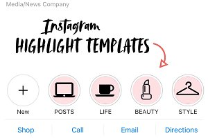Instagram Story Highlight Templates