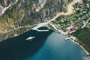 Norway Landscape aerial view