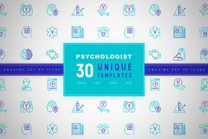 Psychologist Icons Set | Concept