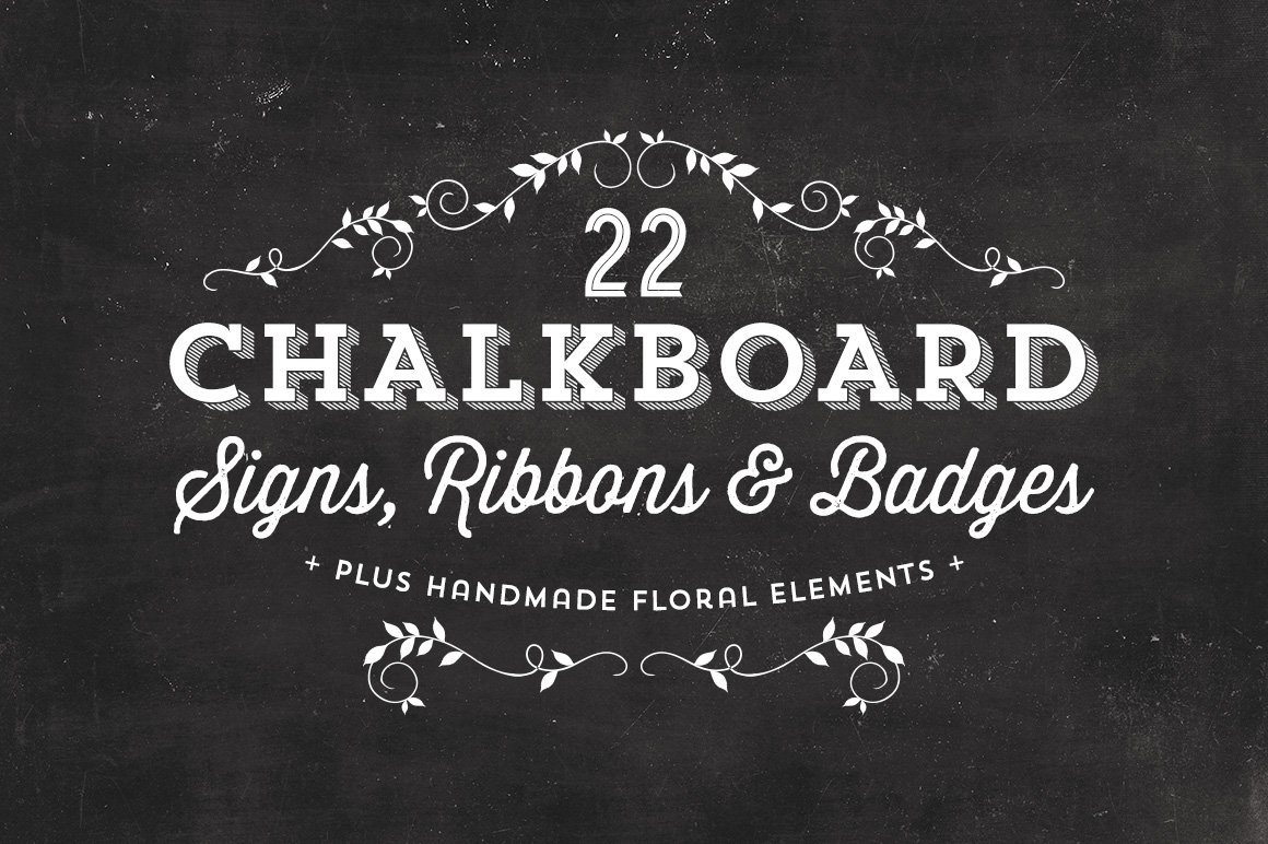 chalkboard signs ribbons badges graphic objects creative market