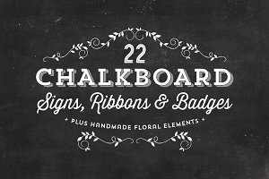 Chalkboard Signs, Ribbons & Badges
