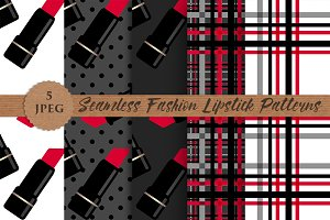 FASHIONISTA seamless patterns set