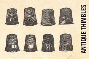 Antique Fashion Sewing Thimbles