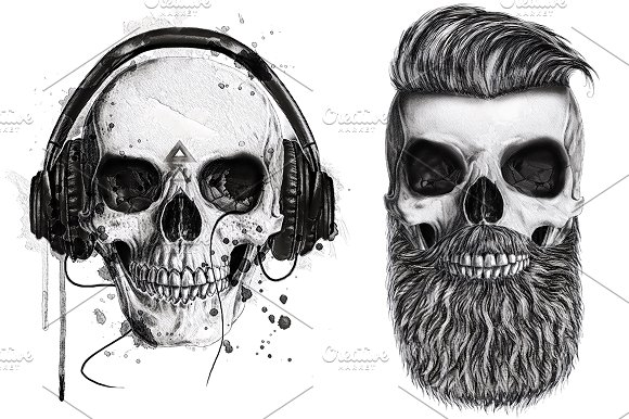 Skull Graphic-Hipster Style Graphic