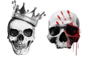 Skull Print-Tshirt Graphics