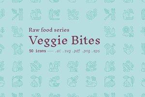 Veggie bites / food icons