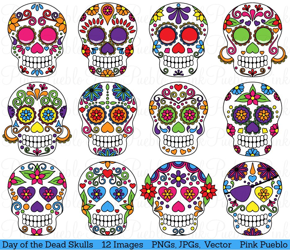 Day of the Dead Sugar Skulls ~ Illustrations ~ Creative Market