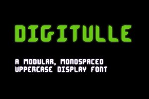 Digitulle Typeface
