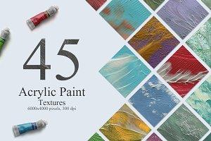 45 Acrylic Paint Textures