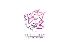 Luxury Leaf Butterfly - Logo Templat