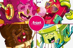 Ice cream music characters
