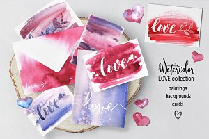 BIG Watercolor Love Collection
