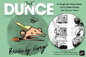 25+ DUNCE Comic Procreate Brushes