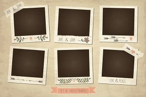 Vintage photo frames and elements