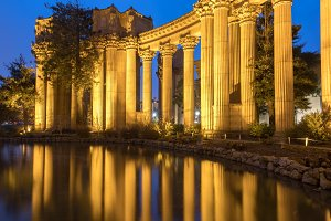 The Palace Colonnade Reflections