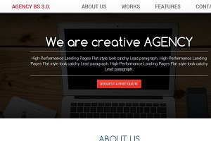 BootAgency Bootstrap 3.0. template