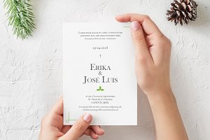 Minimalistic Wedding Invitation