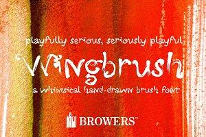 Wingbrush Font