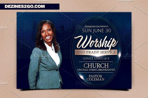The Worship Church Flyer Template Flyer Templates Creative Market