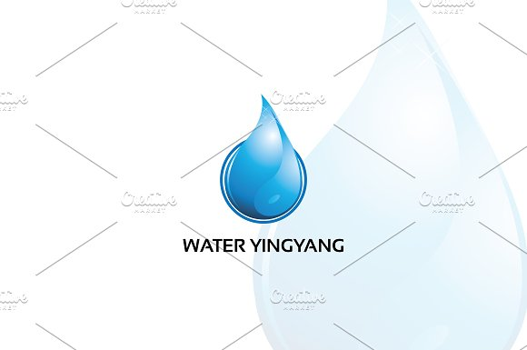 Water Yingyang Logo Template