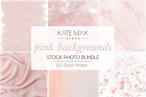 Pink Backgrounds Stock Photo Bundle