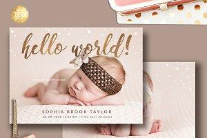 Baby Newborn Annoucement Card BA001