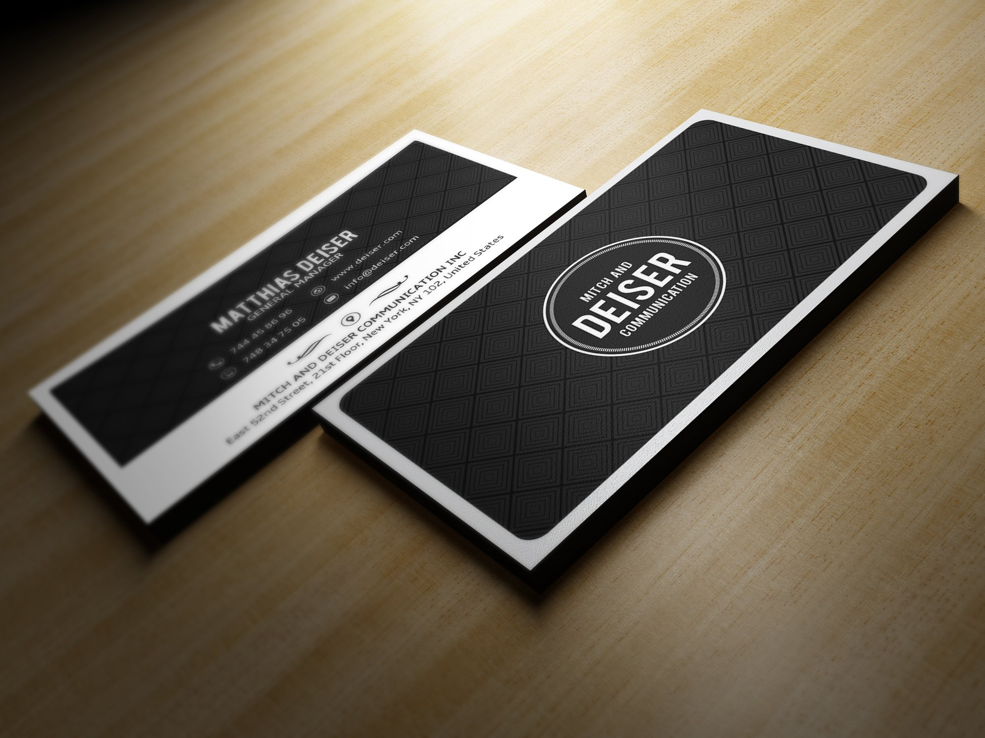 Black And White Business Card ~ Business Card Templates ~ Creative ...