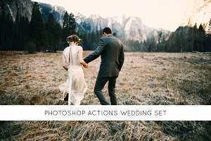 Photoshop actions wedding set