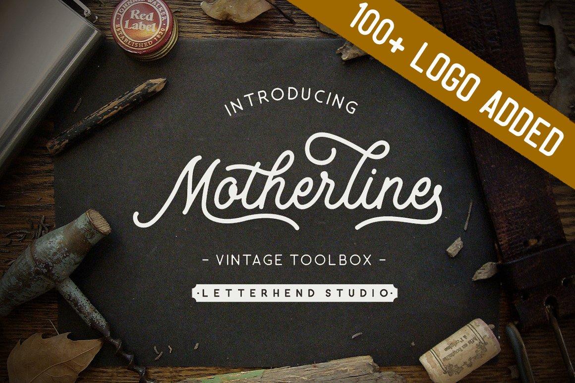 Motherline Vintage Toolbox Updated Script Fonts