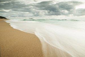 Beach in Galicia, Spain..