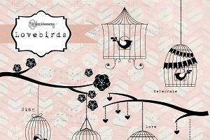 Lovebirds Birdcage Graphics