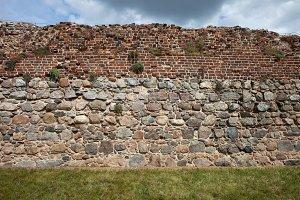 Torun Castle Brick And Stone Wall
