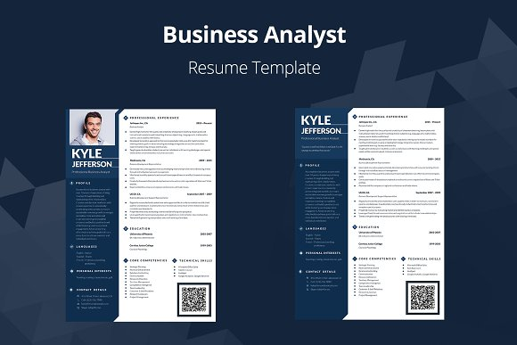 Editable Resume Business Analyst