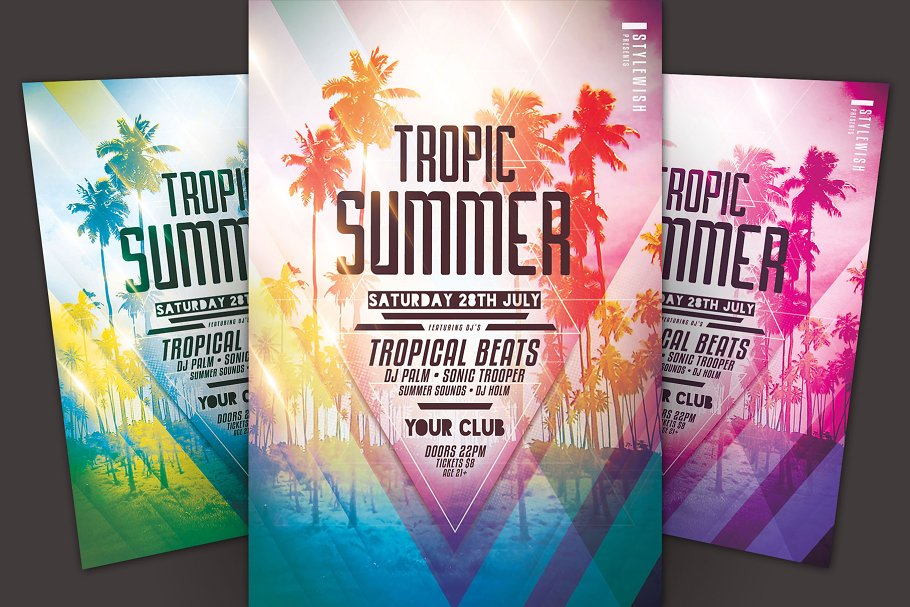 Tropic summer flyer template flyer templates creative market pro tropic summer flyer template saigontimesfo