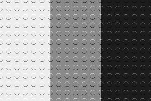 Gray lego blocks seamless patterns